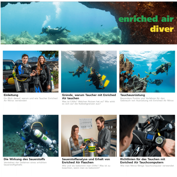 PADI Enriched Air touch (eLearning)