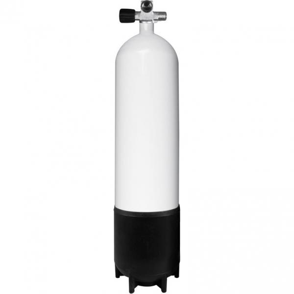 BTS Stahlflasche - 230 Bar konkav - Monoventil (Links)