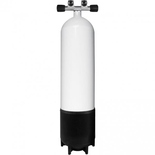 BTS Stahlflasche - 230 Bar - Doppelventil feststehend