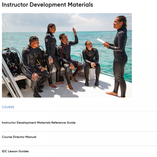 PADI IDC Staff Instructor Crewpack 2020