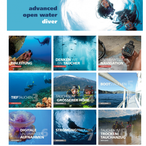 PADI Advanced Open Water Diver touch (eLearning)