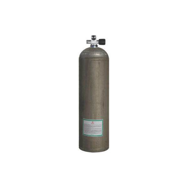 BTS Aluminiumflasche mit Monoventil (Rechts)