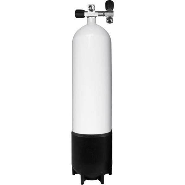 BTS Stahlflasche - 230 Bar konkav - inkl. 2. Abgang
